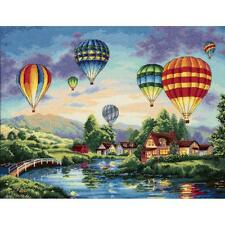 Counted Cross Stitch Kit BALLOON  GLOW Dimensions Gold Collection