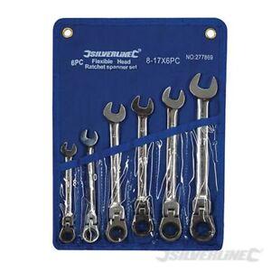 mm cabeza de 6 8 flexible 17 de Silverline Tools de 277869 llaves Juego carraca pzas YwxT01