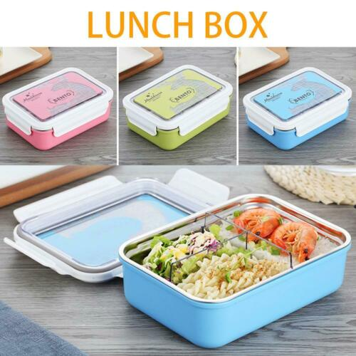 Stainless Steel Storage Food Container Thermo Thermal Insulated Lunch Box 1000ML