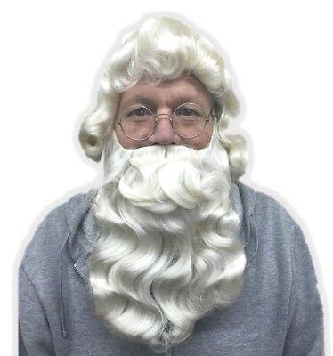 Hair Old Man Nick Beard Claus Xmas Accessory Costume St Wig Cream Santa wC4ZxqUC