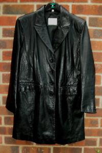 Cappotto classics taglia in da 12 38 moderno nera donna pelle U Eu 6r7Bw6