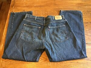 80d5eb4b9ed Image is loading Vintage-Levis-569-Loose-Straight-Factory-Distressed-Men-