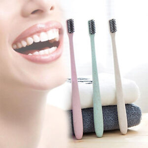 1-x-Soft-Bamboo-Charcoal-Toothbrush-nano-Brush-Oral-Dental-Clean-Wheat-straw