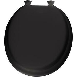 Lift Off Hinge Soft Padded Round Closed Front Toilet Seat
