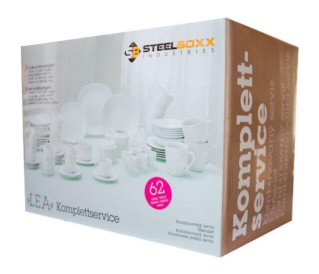 Geschirr Porzellan Set Tafelservice Geschirrset Teller Kombiservice 62 teilig