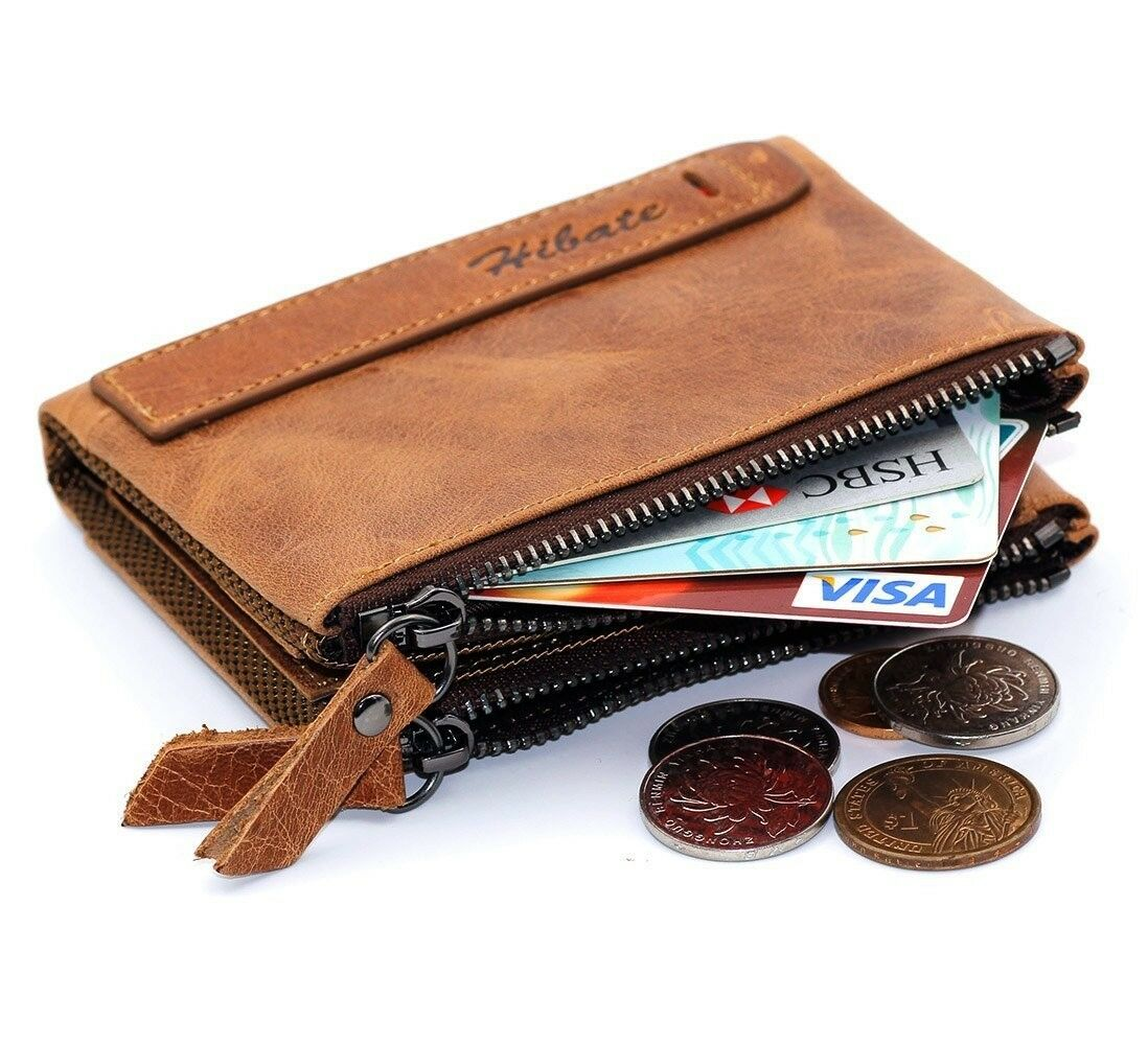 Men RFID Blocking Leather Credit Card Holder Wallet Coin Pocket Purse UK