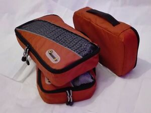 Small Orange Packing Organizers Cubes for Bags, Suitcases & Backpacks 3 Pcs