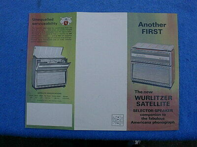 Little LP Album Music Wurlitzer 3100 3110 Instruction Insert # 129192