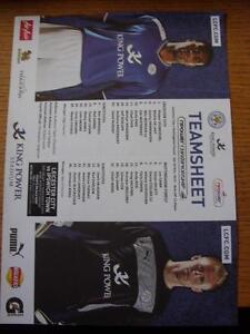 10112012 Colour Teamsheet Leicester City v Nottingham Forest Folded  Any f - <span itemprop=availableAtOrFrom>Birmingham, United Kingdom</span> - Returns accepted within 30 days after the item is delivered, if goods not as described. Buyer assumes responibilty for return proof of postage and costs. Most purchases from business s - Birmingham, United Kingdom