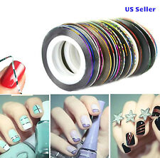 30pcs multicolor mix rolls striping tape line nail art decoration 5 multicolor rolls striping tape line diy nail art tips decoration sticker prinsesfo Choice Image