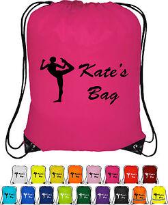 79448bdef299 Image is loading Personalised-GYMNAST-BAG-Bag-Sack-Drawstring-Bag-Backpack-