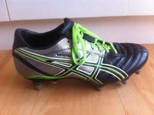 Asics Rugby Union Boots Mens Us Size 8 Metal Studs Lethal Warno Football Black Ebay