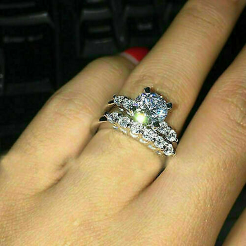 2.00Ct Round Cut Diamond Solitaire Bridal Engagement Ring 14K White Gold Finish