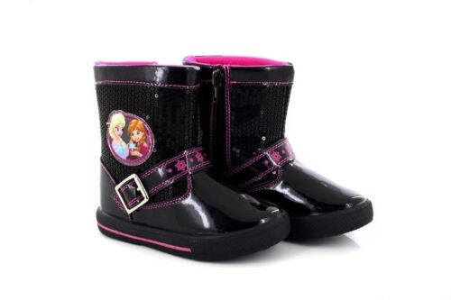 Frozen Disney /'Matilda/' Black Sequin Diamante Glitter Novelty Ankle Boots