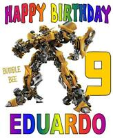 Transformers Bumble Bee Personalized Birthday T-shirt Any Name/age Super Soft