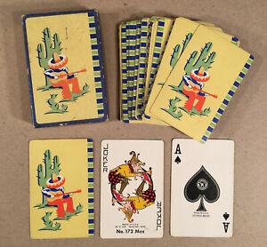 Western W.P. Co. Racine WI PLAYING CARD DECK No. 172 Mex Art Deco Mexican Theme