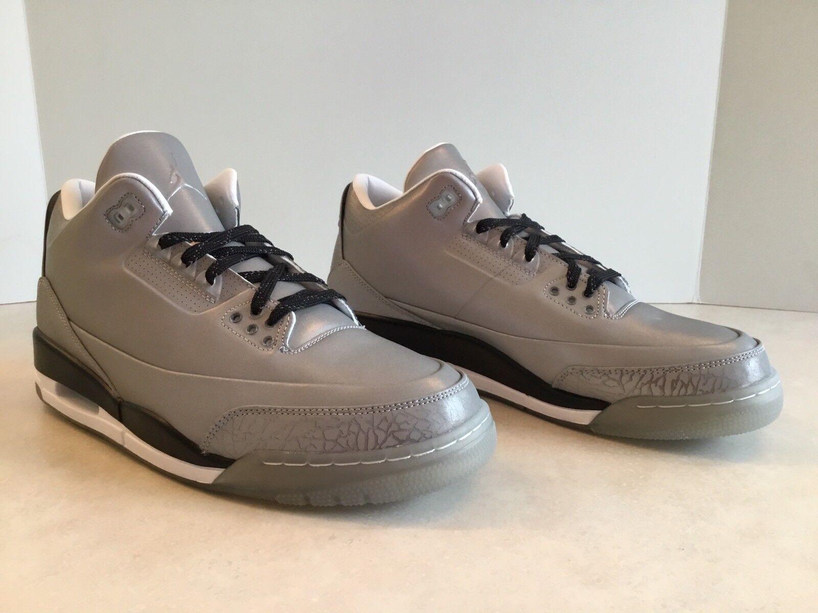 Nike air jordan 5lab3 riflettente ds uomini dimensioni 3m, argento