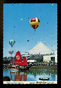 Balloon-postcard-Hot-Air-Balloon-World-039-s-Fair-Expo-1974-Spokane-Washington-WA