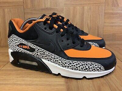Nike Air Max 90 Safari Gs Big Kids 820340 100 Black Orange