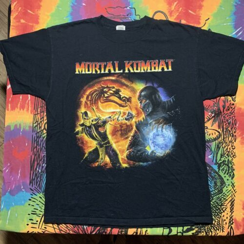 Vintage Mortal Kombat Video Game Promo T-shirt Sub