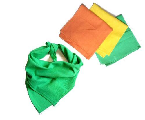 Tuch Bandana Farben versch 50 x 50cm Halstuch Schal 100/% Baumwolle