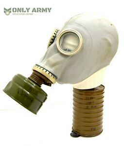 Russian-Army-Full-Face-Rubber-Gas-Mask-With-Filter-NBC-Respirator-Soviet-USSR