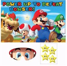 Super Mario Party Game Poster Birthday Supplies Decorations