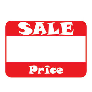Image Is Loading 500 Self Adhesive Sale Price Rectangular Retail Labels