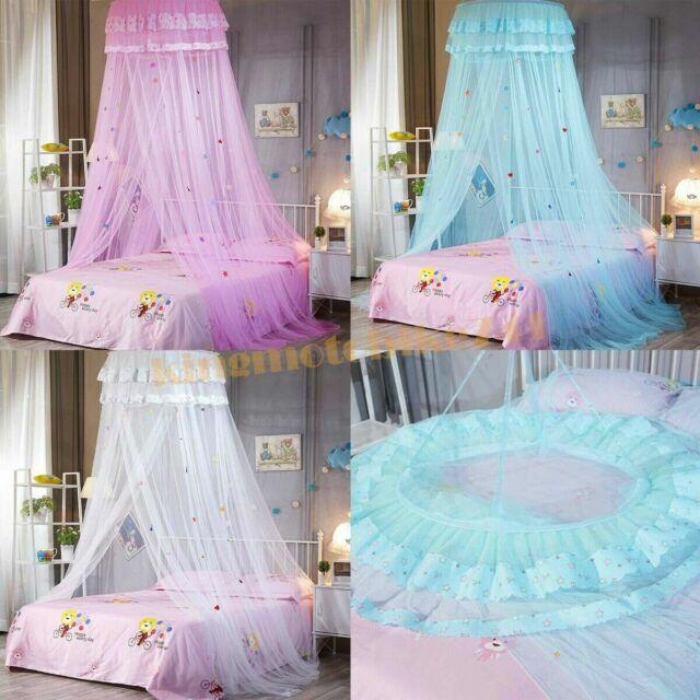 Ikea Net BRYNE White Mesh Net Canopy Bed Fits