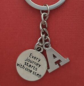 Journey-step-Keyring-and-Initial-Letter-A-to-Z-Keychain-Charms-personalise-gift