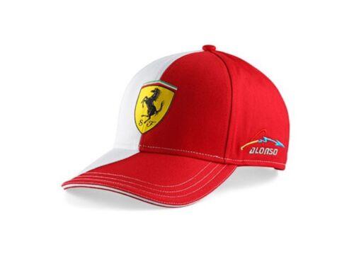 Cap 133-600 Formula 1 Rosso Corsa Ferrari F1 Fernando Alonso Neuf Blanc Panneau