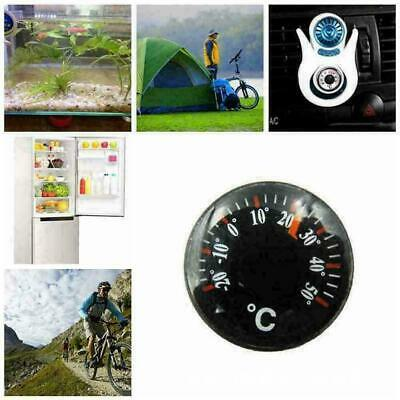 20mm Outdoor Portable Thermometer Celsius Round Plastic P9S3 P4G4 A2R3
