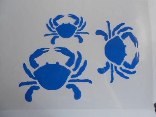 Schablone Stencil Krebse für Textil Airbrush Wanddeko u.v.m auf A4