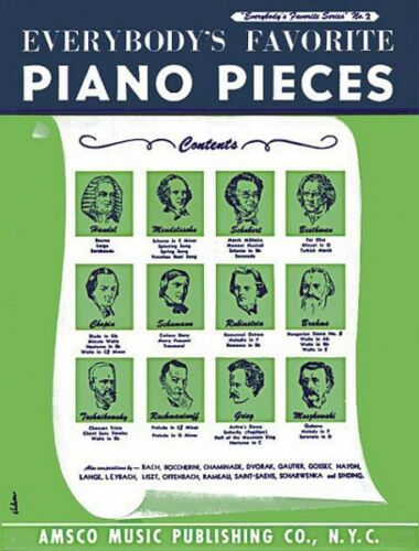 Everybody/'s Favorite Piano Pieces Sheet Music Piano Solo Book NEW 014010620