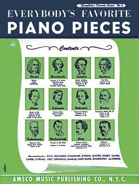 Everybody's Favorite Piano Pieces Sheet Music Piano Solo Book NEW 014010620
