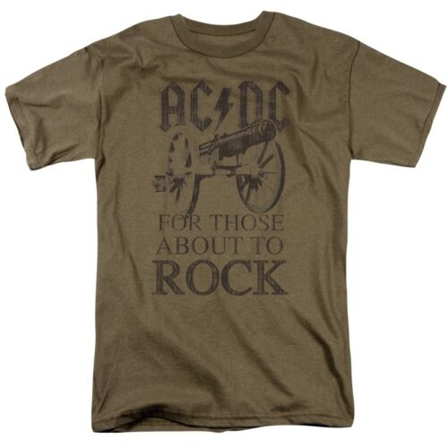 Official AC//DC For Those About to Rock We Salute You logo T-shirt S to 5XL top