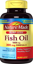 New Nature Made Burp-less Fish Oil, 1000 Mg, 300 mg Omega-3, 150 Liquid Softgels