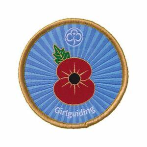 Remembrance-Poppy-WOVEN-badge-Girl-Guding