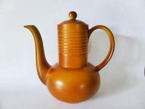 Myott-Pottery-Coffee-Pot-7-Cup-Teapot-Classic-Stoneware-Pottery-1960s-England