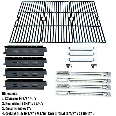 Charbroil 463440109 Replacement Heat Plates,Burners,Carryover Tubes,Grill Grates