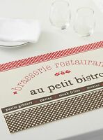 1 French Cafe Paris Style Theme Table Place Mat Kitchen Decor Bistro Restaurant