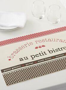 Details About 6 French Cafe Paris Style Theme Table Place Mats Kitchen Decor Bistro Restaurant