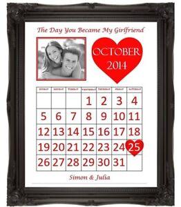 Valentines Day Gift Idea The Day We Met Calendar Boyfriend