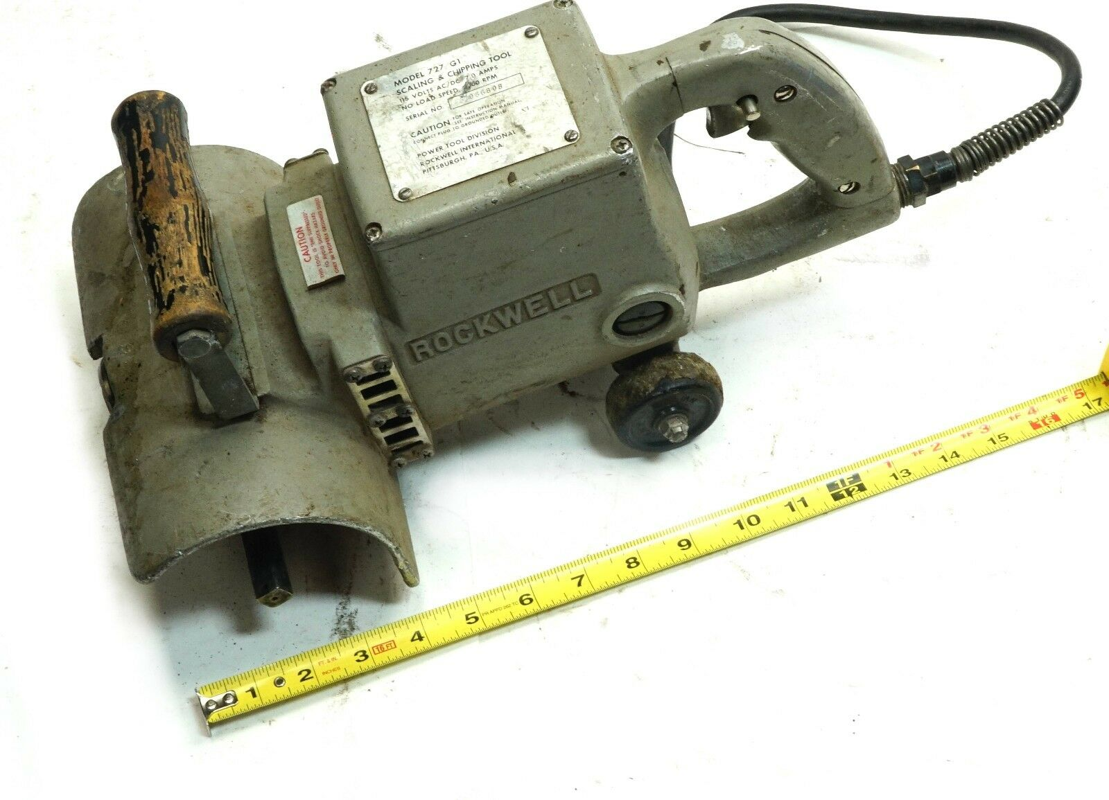 Rockwell 727 Electric Surface Scaling /& Chipping Tool 115V AC//DC 7 Amp For Parts