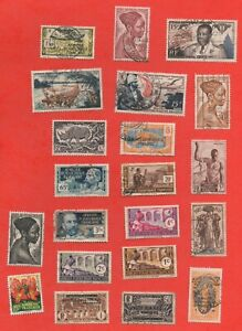 21 Stamps Africa Equatorial - Possession French (K5138)