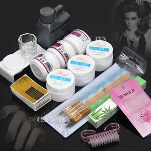 nail art set care starter kit acrylic powder liquid uv gel. Black Bedroom Furniture Sets. Home Design Ideas