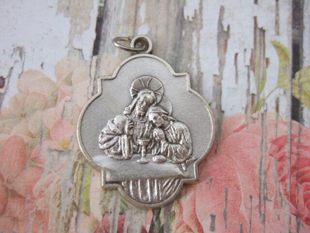 Catholic Medal Holy Communion Jesus Blessed Sacrament 32mm pendant