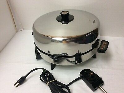 Vtg Revere Ware Copper Core Stainless Steel Electric