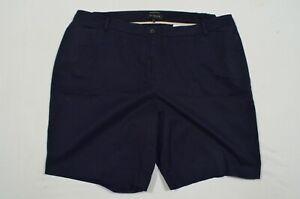 Talbots 24W Woman Plus Navy Blue The Perfect Bermuda Shorts