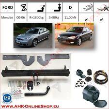 Gancio traino fisso Ford Mondeo Belina, Hatchback 00-06 + kit elettrico 13-poli